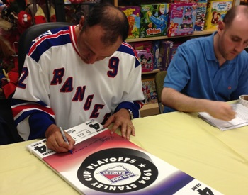 Stephane Matteau In-Store Signing Jersey at Cow Over The Moon Toys and Sports Memorabilia
